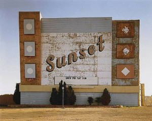 """Sunset drive-in, Amarillo, Texas, 1974,"" Stephen Shore"