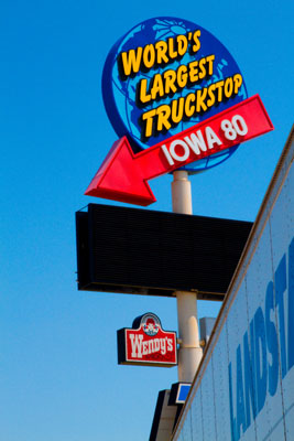 Worlds Largest Truck Stop, Iowa, 2010