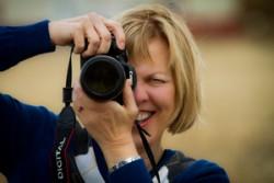 Carol Taking Crane Pictures