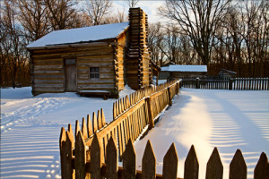 One of my own fence pictures, New Salem State Historic Area, Petersburg, Illinois.