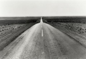 Dorothea Lange's Road West, also taken in New Mexico. Copyright Dorothea Lange Estate.