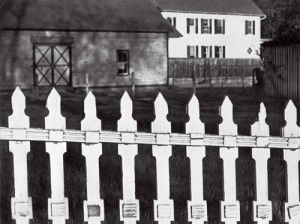Paul Strand's iconic White Fence, Port Kent, New York, 1916.